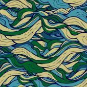 Decorative ornamental pattern hair algae — Stock Vector