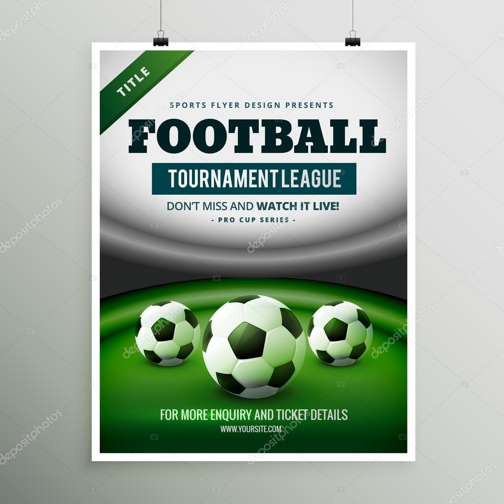 Depositphotos Stock Illustration Football Tournament League Game Flyer Soccer Poster