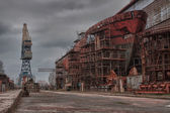 Shipbuilding, ship repair — Stock Photo