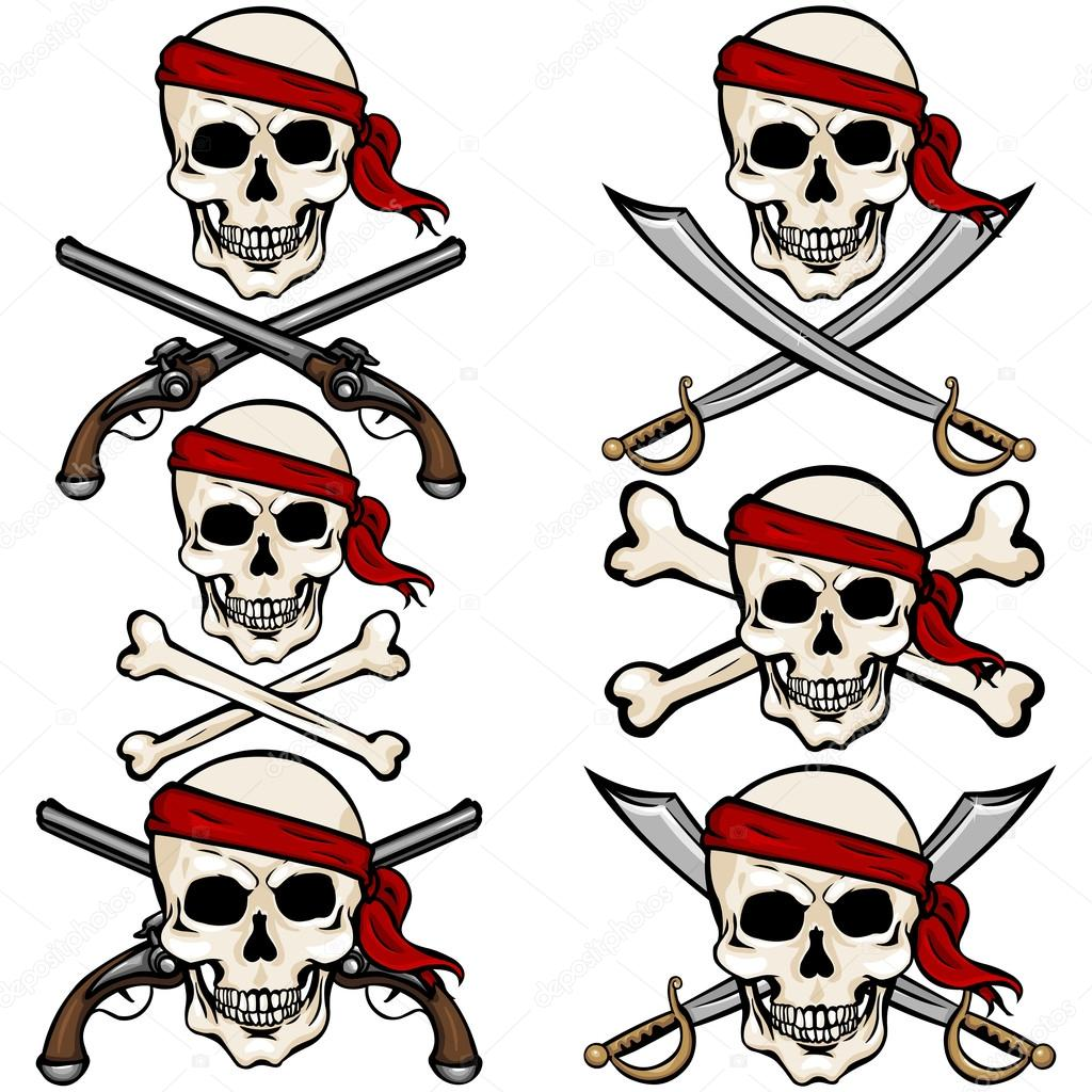 Pirate bandana clipart