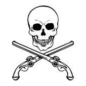 Pirátská lebka — Stock vektor