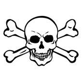 Pirate skull — Stock Vector