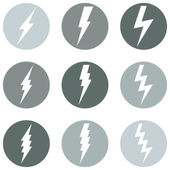Lighting Icons — Stock Vector