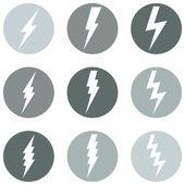 Lighting Icons — Stock Vector