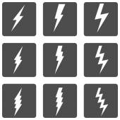 Thunder Lighting Icons — Stock Vector