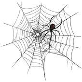 Black Widow Spider — Stock Vector
