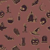 Vector Seamless Halloween Pattern — Stock Vector