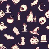 Padrão sem emenda de halloween vector — Vetor de Stock