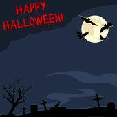 Cadılar bayramı kartpostal — Stok Vektör