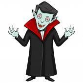 Evil Attacking Vampire — Stockvector
