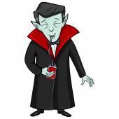 Vampire Drinks Blood — Wektor stockowy