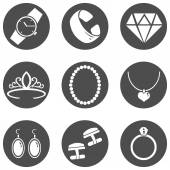 Jewellery Icons — Stock Vector