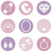Jewellery Icons — Stock Vector