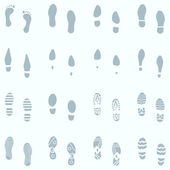 16 Shoes Footprint — Stock Vector