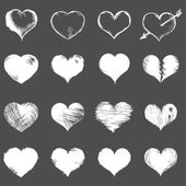 Sketch Hearts — Stockvector