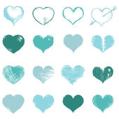 Sketch Hearts — Stock Vector
