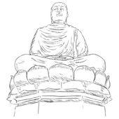 Buddha on the Lotus — Stock Vector