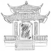 Buddist Pagoda — Stock Vector