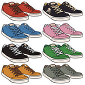 Set of  Skaters Shoes — Stock Vector