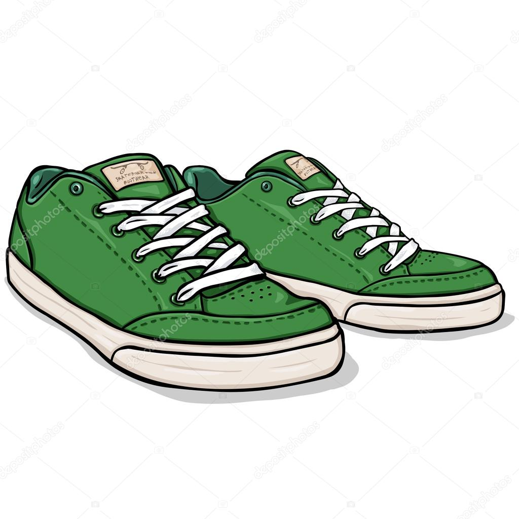 Walking Shoes Illustration