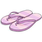 Beach Slippers — Vector de stock