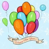 Vector Happy New Year Card. — Stock Vector