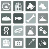 Zestaw ikon zwierzęta — Wektor stockowy