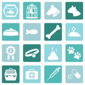 Set of Pets Icons — Stock Vector