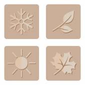 Set of Seasons Icons. — Vector de stock