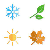 Set of Seasons Icons. — Stockvektor