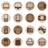 Digital Devices Icons — Stock Vector