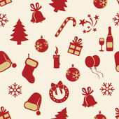 Seamless New Year and Christmas Pattern — Stok Vektör