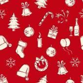 Sem costura ano novo e Natal padrão — Vetor de Stock