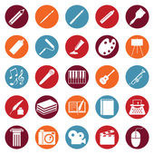 Set of Art Icons — Stock Vector
