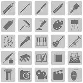 Set di icone di arte — Vettoriale Stock