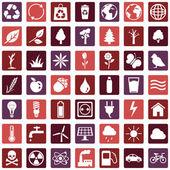 Ekologická ikony — Stock vektor