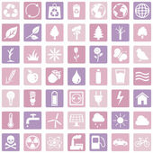 Ecologic Icons — Stock Vector