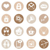 Icons for Valentine Day — Stock Vector