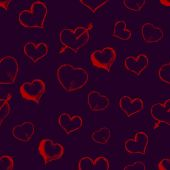 Vector Seamless Hearts Pattern Background — Stock Vector