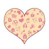 Vector Cartoon Heart — Stock Vector