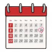 Cartoon  Calendar — Stock Vector