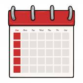 Calendário dos desenhos animados — Vetor de Stock