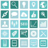 Set of SEO Icons — Stock Vector