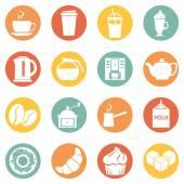 Coffee Shop Icons. — Stock Vector