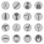 Barber Shop Icons — Stock Vector