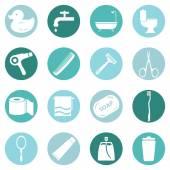 Bathroom and Hygiene Icons. — Vector de stock