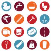 Bathroom and Hygiene Icons. — Wektor stockowy