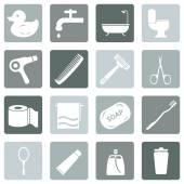 Bathroom and Hygiene Icons. — Stock Vector