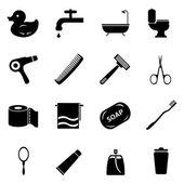 浴室和卫生图标. — 图库矢量图片