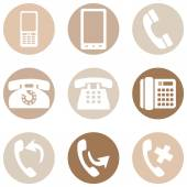 Set of Telephone Icons — Stock Vector